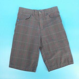 Hurley Boy's 14 Brown Plaid Shorts